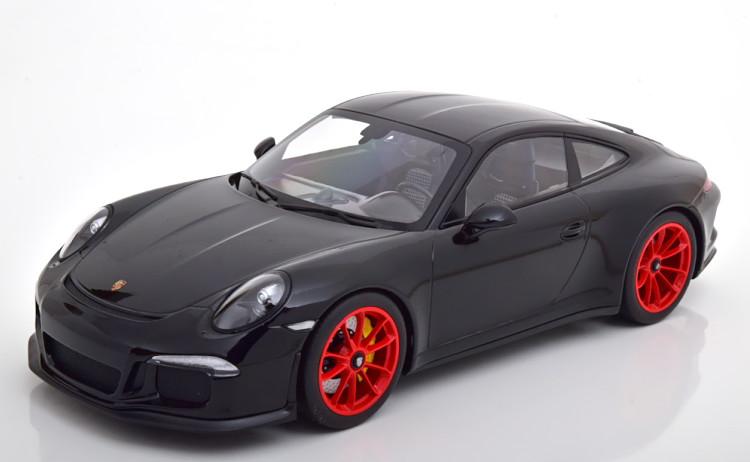 ミニチャンプス 1/12 ポルシェ 911(991) R 2016 ブラック/レッド Minichamps 1:12 Porsche 911 (991) R 2016 black red