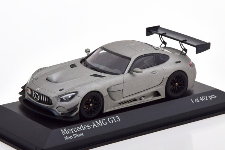 ミニチャンプス 1/43 メルセデス AMG GT3 プレーンボディ 2017 グレーメタリック 402台限定Minichamps 1:43 Mercedes AMG GT3 Plain Body 2017 grey-metallic Limited Edition 402 pcs