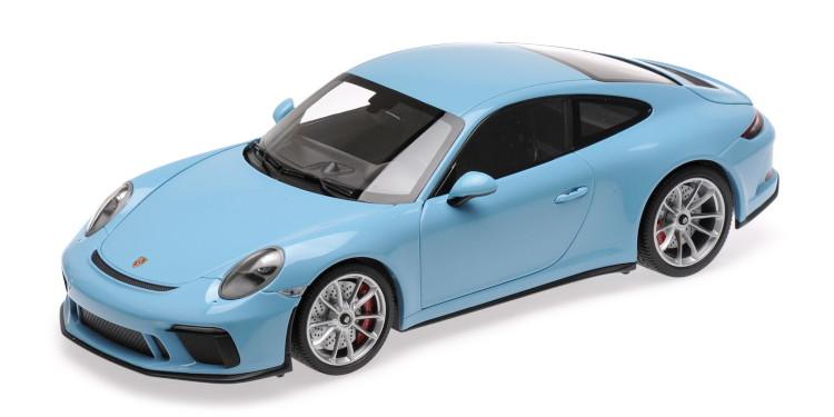 ミニチャンプス 1/18 ポルシェ 911 991 GT3 ツーリング クーペ 2018 ライトブルー Minichamps 1:18 Porsche 911 991 GT3 TOURING COUPE 2018 LIGHT BLUE