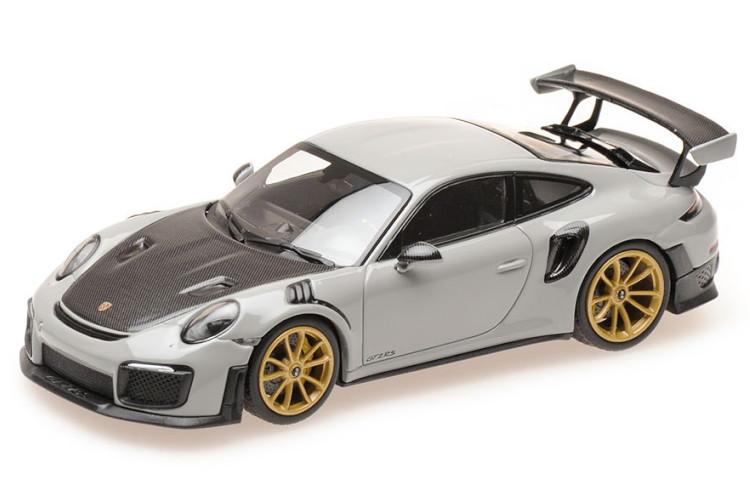 ミニチャンプス 1/43 ポルシェ 911 991-2 GT2 RS クーペ 2018 グレー/ブラック Minichamps 1:43 Porsche 911 991-2 GT2 RS COUPE 2018 GREY BLACK