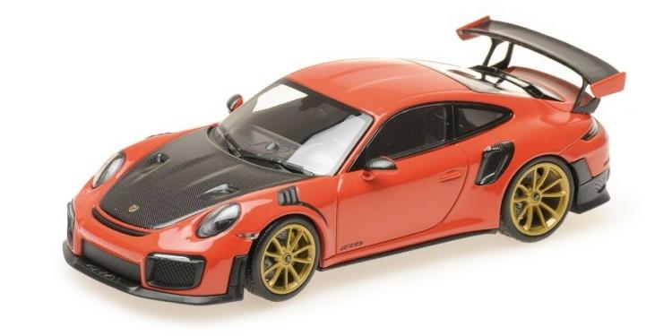 ミニチャンプス 1/43 ポルシェ 911 991-2 GT2 RS クーペ 2018 ラバオレンジ/ブラック Minichamps 1:43 Porsche 911 991-2 GT2 RS COUPE 2018 LAVA ORAN BLACK