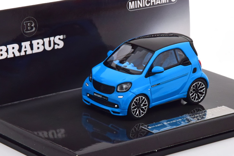ミニチャンプス 1/43 スマート ブラバス アルティメイト125 2017 ブルー/ブラック 150台限定 Minichamps 1:43 SMART BRABUS ULTIMATE 125 2017 blue black Limited Edition 150 pcs