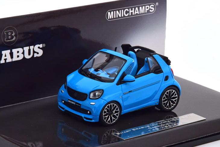 ミニチャンプス 1/43 スマート ブラバス アルティメイト125 オープンカー 2017 ブルー 150台限定 Minichamps 1:43 Smart Brabus Ultimate 125 Convertible 2017 blue Limited Edition 150 pcs