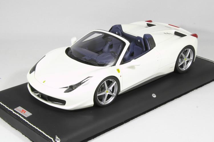 MR Collection 1/18 フェラーリ 458 スパイダー ホワイト  Ferrari 458 Spider Bianco Fuji