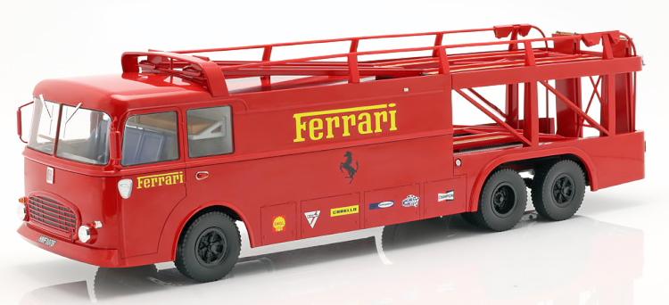 ノレブ 1/18 フィアット バルレッティ306/2 Renntransporter フェラーリ 1970 栄光のル・マン Fiat Bartoletti Ferrari from the movie Le Mans 1970