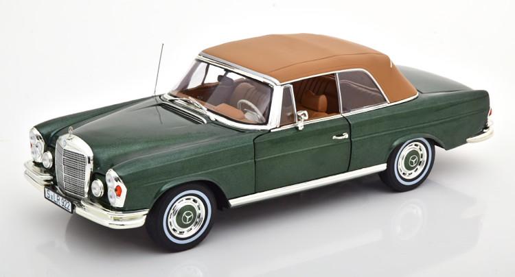 1/18 1:18 ノレブ SE 1969 オープンカー Green Mercedes metallic Benz メタリックグリーン Cabriolet メルセデス・ベンツ 1969 Softtop 280 280 SE Norev ソフトトップ