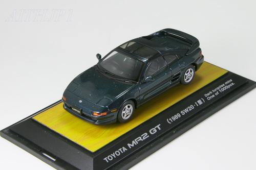 <中古>TOSA 1/43 トヨタ MR2 GT 1989 I型 SW20 ターコイズ 1000台限定