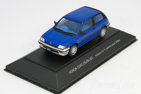 <中古>SAPI 1/43 ホンダ ワンダー シビック 25i ブルー 1983 200台限定