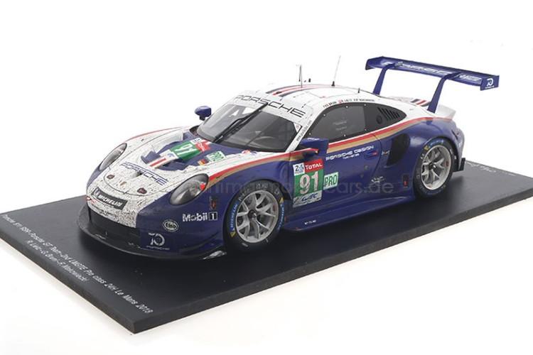 car.tima特注☆ 1/18 ポルシェ 911 RSR ル・マン24時間耐久レース 2018 ホワイト/ブルー car.tima 1:18 Porsche 911 RSR 24h Le Mans 2018 Bruni / Lietz / Makowiecki white/blue