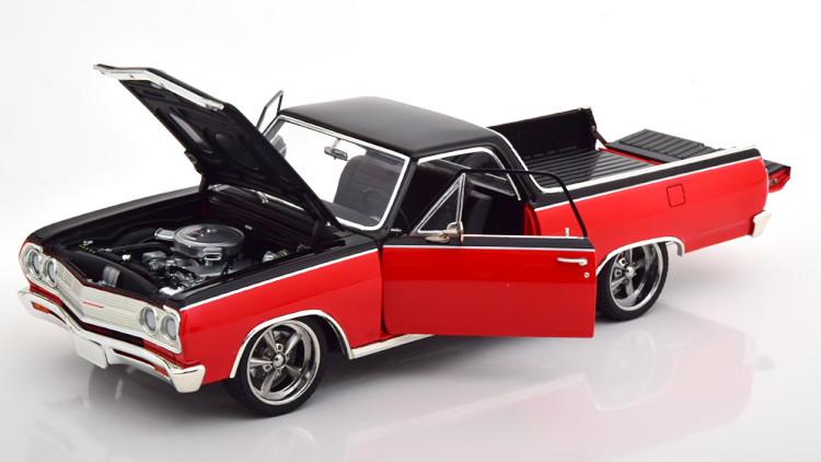 GMP/ACME 1/18 シボレー エルカミーノ カスタム 1965 レッド ブラック 594台限定 GMP/ACME 1:18 Chevrolet El Camino Custom 1965 red black Limited Edition 594 pcs
