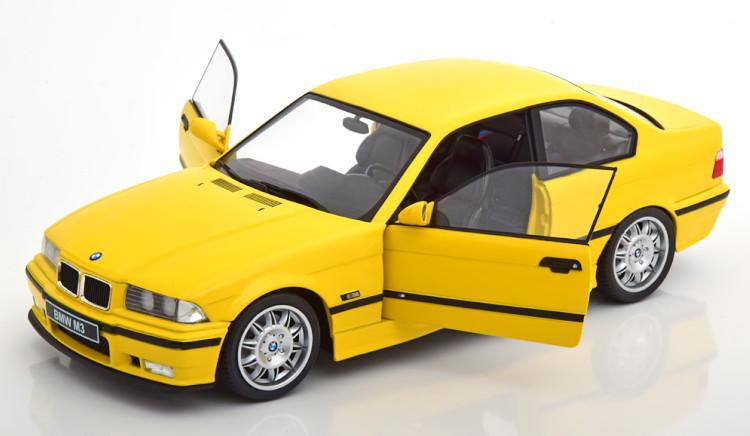 ソリド 1/18 BMW M3 E36 1996 イエロー デカール付属 Solido 1:18 BMW M3 E36 1996 yellow with Decals