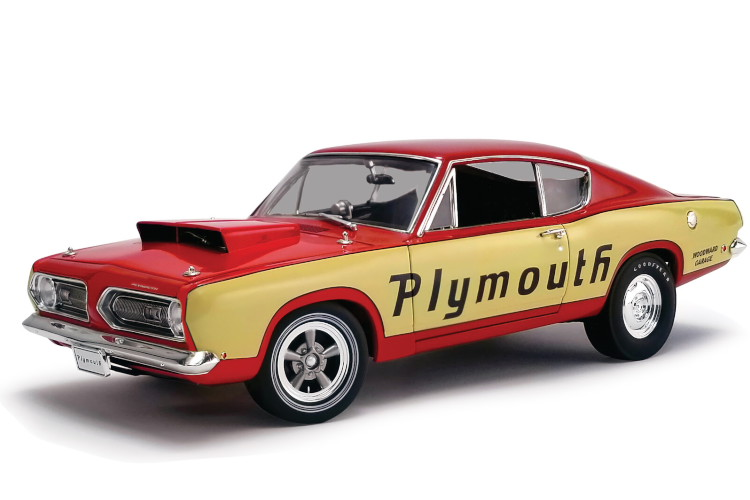 ACME 1/18 プリムス・バラクーダ N 0 スーパーストック テストミュール 1968 レッド/イエロー 462台限定 ACME MODELS 1/18 PLYMOUTH BARRACUDA N 0 SUPER STOCK TEST MULE 1968 RED YELLOW LIMITED 462 ITEMS