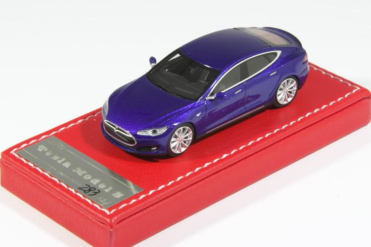 VIP SCALE 1/64 テスラ モデルS P85 ブルーTesla Model S
