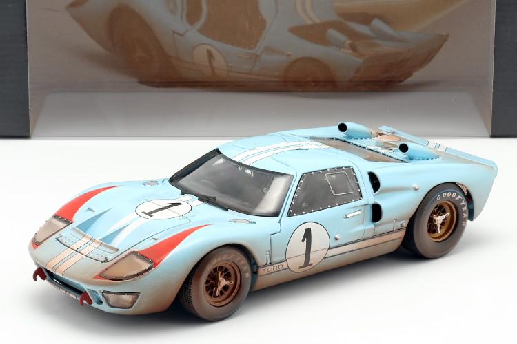 Shelby Collectibles 1 18 フォード GT40 MK 2 ダーティーバージョン 新作入荷 #1 2nd ル LeMans Miles マン24時間耐久レース Version 24h Ford 1966 Dirty 送料無料でお届けします Hulme II 1:18