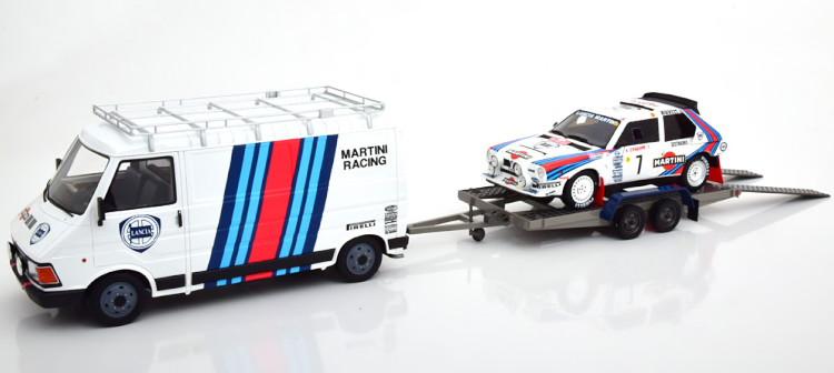オットー 1/18 フィアット 242 ランチア デルタ S4 + トレーラー 1986 セット Otto Mobile 1:18 Fiat 242 set with Lancia Delta S4 and trailer 1986 Toivonen/Cresto Limited Edition 2000 pcs