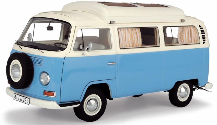 シュコー 1 18 フォルクスワーゲン 新作 数量限定アウトレット最安価格 T2a キャンピングバス ライトブルー 1000台限定 creme Camping bus lightblue VW