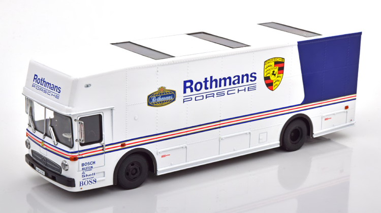 シュコー 1 安心の定価販売 毎週更新 43 メルセデス O317 ポルシェ レーストランスポーター ロスマンズ race Rothmans Porsche 956K Mercedes transporter