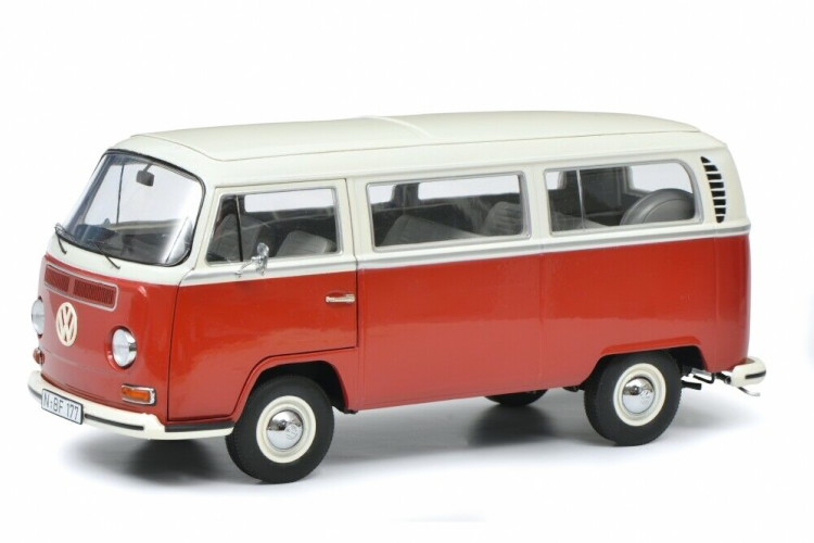シュコー 1/18 フォルクスワーゲン T2a キャンピングバス 1967 レッド/ホワイト 1000台限定 Schuco 1:18 Volkswagen T2a Bus 1967 red/white Limited Edition 1000 pcs.