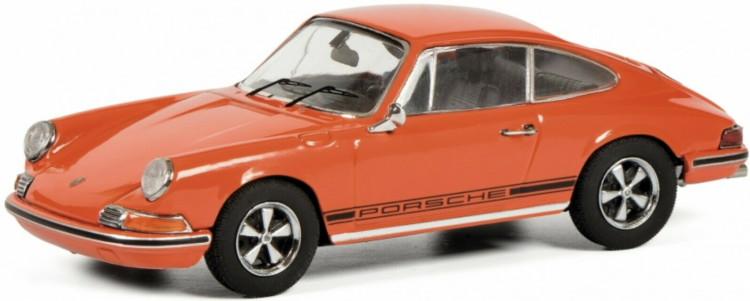 シュコー 1/43 ポルシェ 911 991 S クーペ 1971 オレンジ 750台限定 Schuco 1:43 Porsche 911 S Coupe 1971 orange Limited Edition 750 pcs.