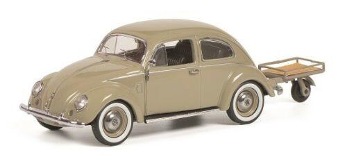 シュコー 1/43 フォルクスワーゲン Pretzel ビートル オートポーター付き ベージュ Schuco 1:43 Volkswagen VW Pretzel beetle with Auto Porter beige