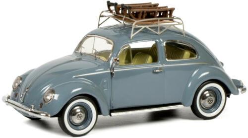 シュコー 1/43 フォルクスワーゲン ビートル ソリ付き ブルー Schuco 1:43 Volkswagen VW beetle with Sledge blue