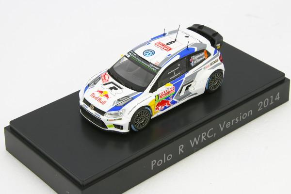 スパーク 1/43 VW ポロ R WRC #9 2014 VW 海外ディーラー特注