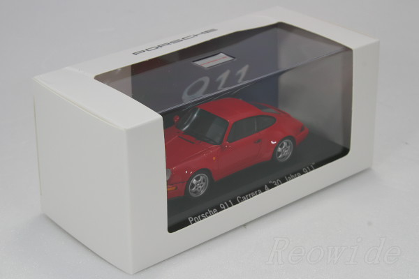 """闪光1/43保时捷911(964)卡雷拉4""""30 Jahre 911""""1993红保时捷博物馆特别订货200台限定"""