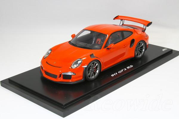 Sparkling 1 18 991 Porsche 911 Gt3 Rs Orange Dealer Custom Built Model Cars Limited
