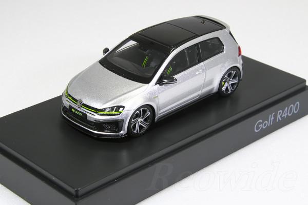 スパーク 1/43 VW ゴルフ R400 シルバー 2015 VW 海外ディーラー特注