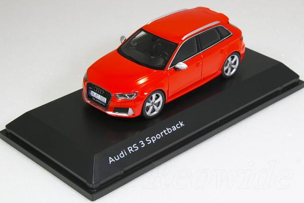 スパーク 1/43 アウディ RS3 スポーツバック レッド 8V