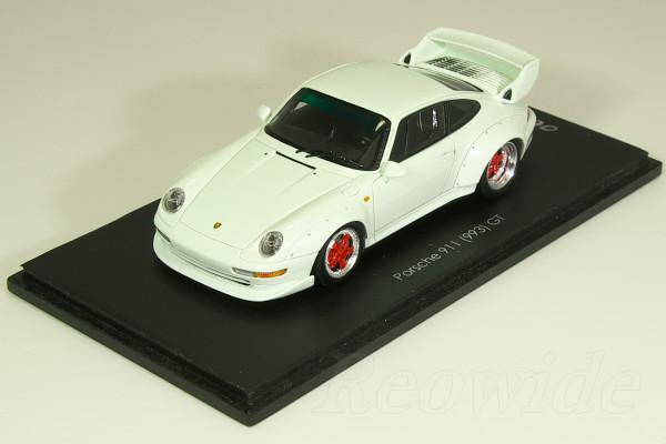 スパーク 1/43 ポルシェ 911 (993) GT ホワイト / レッドホイール 日本仕様 33台限定