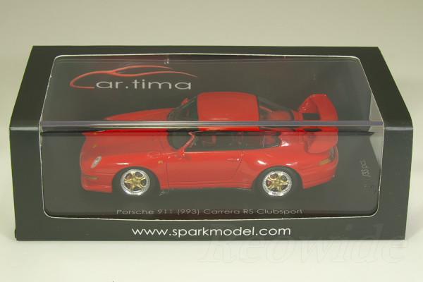 スパーク 1/43 ポルシェ 911 (993) カレラ RS クラブスポーツ レッド / ゴールドホイール 中国仕様 33台限定