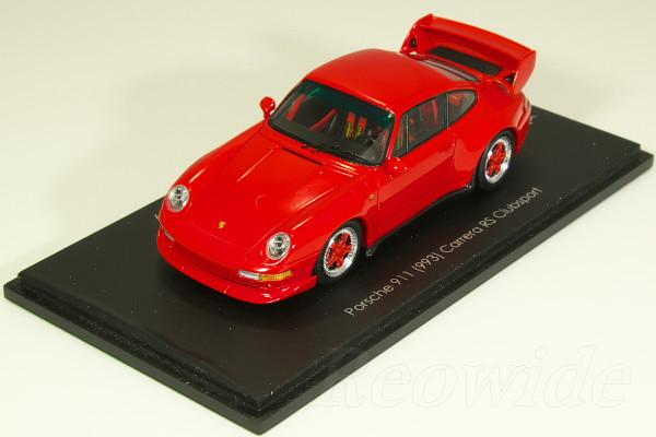 スパーク 1/43 ポルシェ 911 (993) カレラ RS クラブスポーツ レッド / レッドホイール car.tima CUSTOMERS CLUB Edition 9 33台限定
