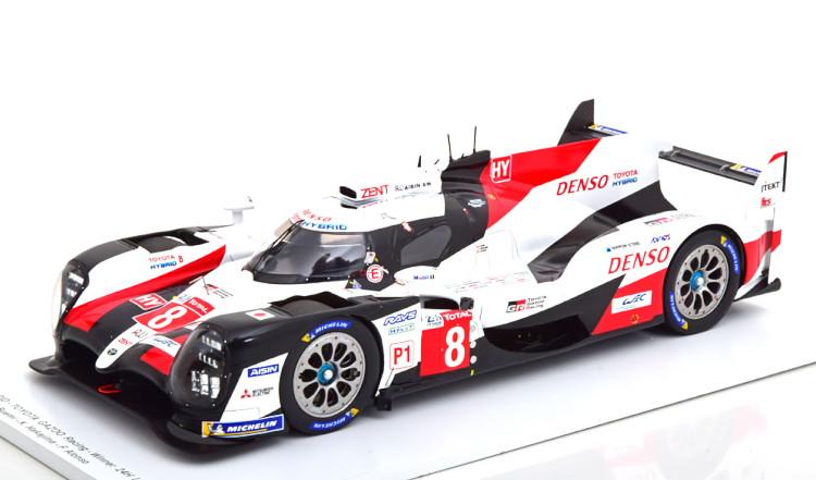 スパーク 1/18 トヨタ TS050 ハイブリッド ルマン 2019 優勝車 TOYOTA HYBRID GAZOO Racing Winner 24H Le Mans