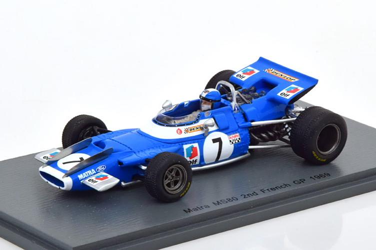 スパーク 1/43 マトラ MS80 フランスグランプリ 1969 ベルトワーズ ブルー Spark 1:43 Matra MS80 GP France 1969 Beltoise Blue