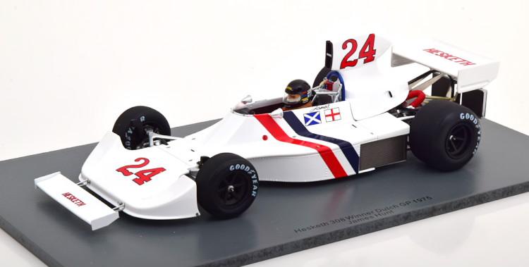 スパーク 1/18 ヘスケス 308 優勝 オランダグランプリ 1975 ハント ホワイト Spark 1:18 Hesketh 308 Winner GP Netherland 1975 Hunt white