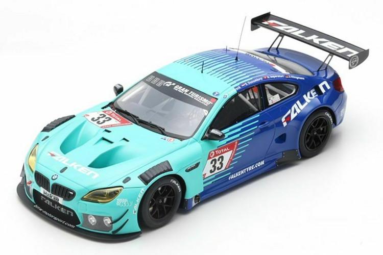 スパーク 1/18 BMW 6シリーズ M6 GT3 ファルケンモータースポーツチーム 33番 5th ニュルブルクリンク24時間耐久 2019 ブルー/グリーン SPARK 1:18 BMW 6-SERIES M6 GT3 TEAM FALKEN MOTORSPORT N 33 5th 24h NURBURGRING 2019 BLUE GREEN