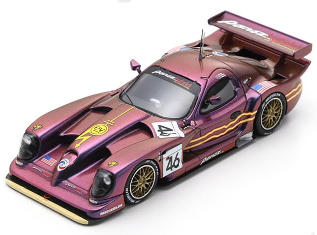 スパーク 1/43 パノス エスペラント GTR-1 Q9 ハイブリッド 46番 ル・マン24時間耐久レース 1998 パープル Spark 1:43 Panoz Esperante GTR-1 Q9 Hybrid No 46 24h Le Mans 1998 Weaver/McCarthy/O´Connell purple