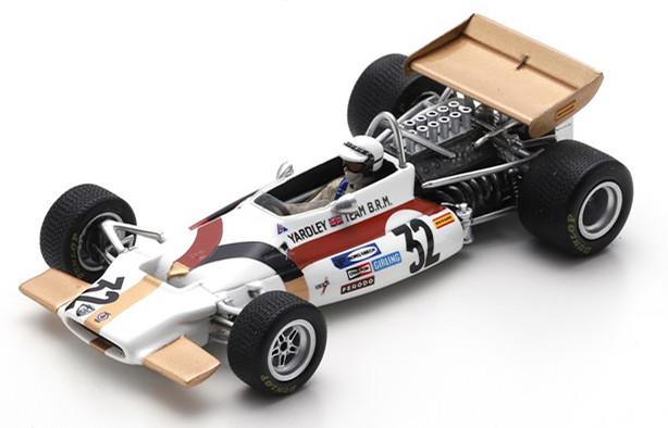 スパーク 1/43 BRM P153 ワトキンズ・グレングランプリ 1970 ホワイト/ゴールド Spark 1:43 BRM P153 GP Watkins Glen 1970 Westbury white/gold