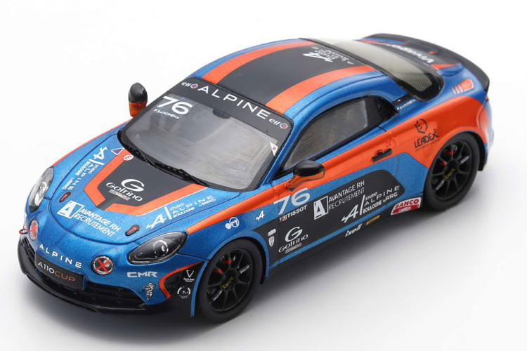 スパーク 1/43 ルノー アルピーヌ A110 優勝 Elf Europe cup チャンピオンシップ 2018 ブルー/オレンジ/ブラック 500台限定 Spark 1:43 Renault Alpine A110 Winner Alpine Elf Europe Cup Championship 2018 blue orange black Limited Edition 500 pcs