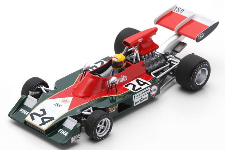 スパーク 1/43 Iso IR #24 スペインGP ナンニ・ギャリ 1973 レッド/グリーン Spark 1:43 Iso IR #24 GP spain 1973 Nanni Galli red/green