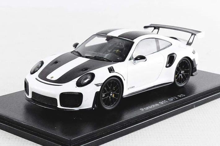 スパーク 1/43 ポルシェ 911 991 GT2 RS クーペ 2018 ホワイト/ブラック Spark 1:43 PORSCHE 911 991 GT2 RS COUPE 2018 WHITE BLACK