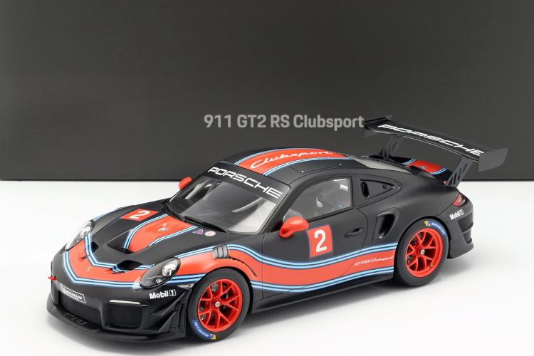 スパーク 1/18 ポルシェ 911 991-2 GT2 RS N 2 クーペ 2019 ブラック/レッド/ライトブルー Spark 1:18 PORSCHE 911 991-2 GT2 RS N 2 COUPE 2019 BLACK RED LIGHT BLUE