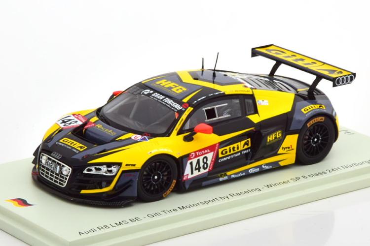 スパーク 1/43 アウディ R8 LMS #148 クラス 優勝 ニュルブルクリンク24時間レース 2019 イエロー/ブラック 300台限定 Spark 1:43 Audi R8 LMS No 148 Class Winner 24h Nuerburgring 2019 yellow/black Limited Edition 300 pcs