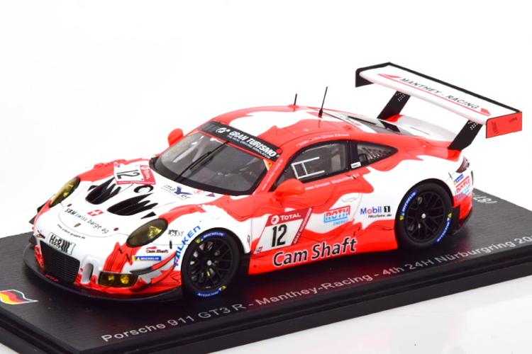 スパーク 1/43 ポルシェ 911 GT3R #12 ニュルブルクリンク24時間耐久レース 2019 500台限定 Spark 1:43 Porsche 911 GT3 R No 12 24h Nuerburgring 2019 Limited Edition 500 pcs