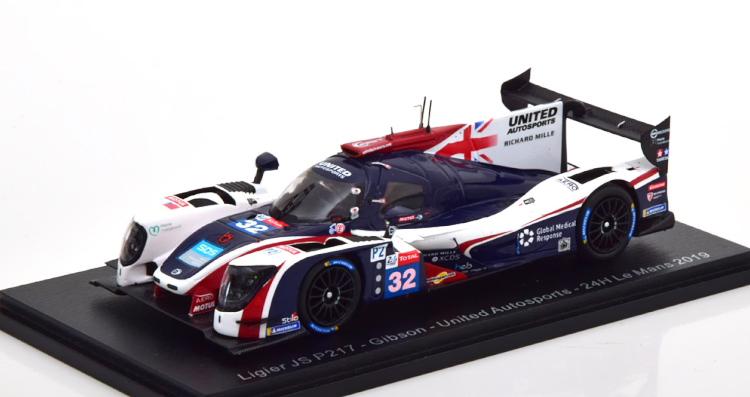 スパーク 1/43 リジェ JS P217 ギブソン #32 ル・マン24時間耐久レース 2019 ホワイト/ブルー/レッド Spark 1:43 Ligier JS P217 Gibson #32 24h Le Mans white/blue/red