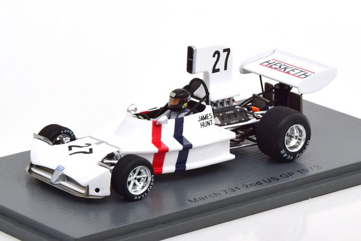 スパーク 1/43 マーチ 731 アメリカGP 1973 ハント ホワイト Spark 1:43 March 731 GP USA 1973 Hunt white