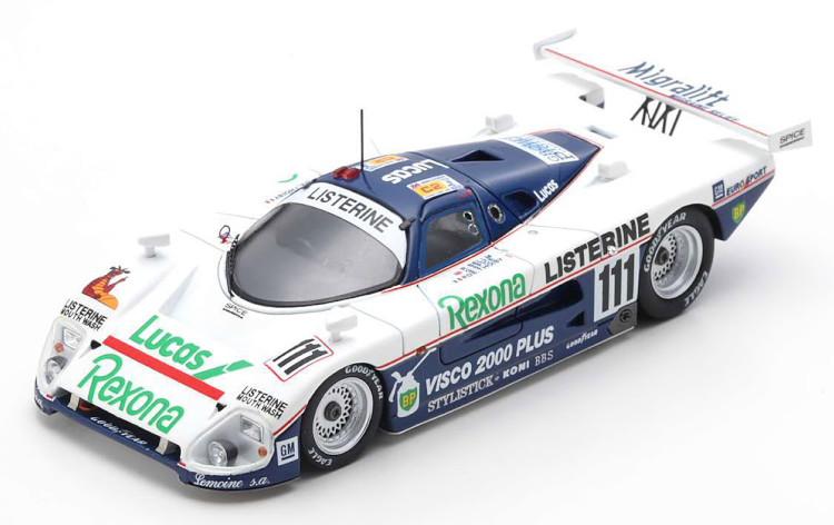 SE SPARK 1:43 1/43 スパーク 88C スパイス C2 ホワイト/ブルー SE Winner 優勝 Le クラス white 1988 C2 ル・マン24時間耐久レース Class Spice blue #111 1988 24h 88C #111 Mans