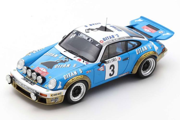 スパーク 1 43 ポルシェ 911 カレラ RS 3.0 優勝 ラリーモンテカルロ 1978 Spark Decals チープ Winner Monte Rally デポー 1:43 デカール付き with Carlo Carrera Porsche