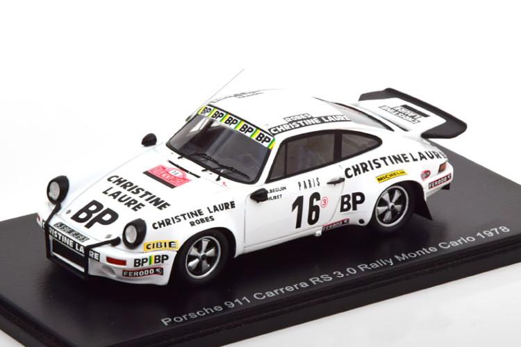 スパーク 1 43 ポルシェ 911 卓越 カレラ 3.0 RS #16 ラリー モンテカルロ 1978 16 No Beguin Monte Porsche Rally 1:43 新入荷 流行 Huret Carrera Spark Carlo